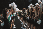 The Dazzlers show school spirit during a football game. Photo by Presley Vanover.